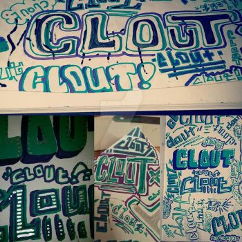 Clout typography by Conrico