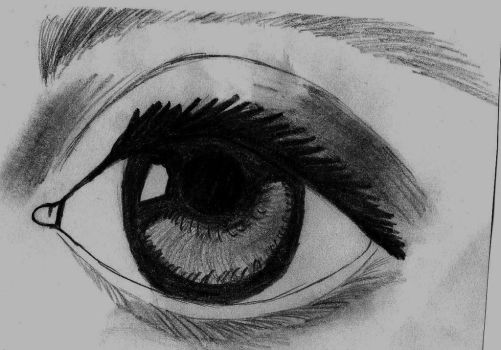Eye Sketch by LadyTaurus95