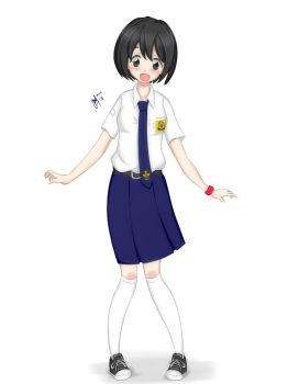 Indonesian Middle School Girl by maxibillity