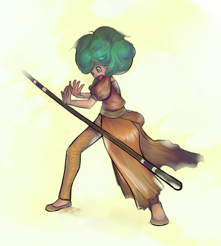 Lynia - WHY IS THIS STAFF FLOATING?! by UndyingSong