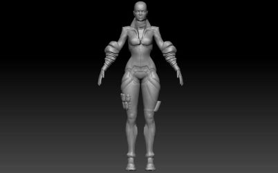 Romantic Girl WIP sculpt by tracygraves