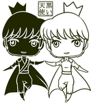 Reference Chibi Princes for theartslave by kuroitenshi13