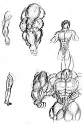 A Greater Muscle Study by EmotionCreator