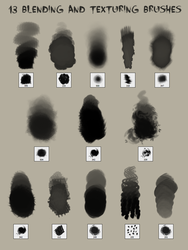 13 Blending and Texturing Brushes by god-head