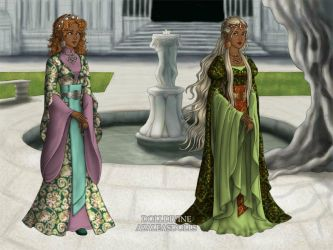 Sisters At Court by Nelyasun