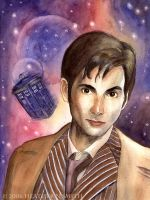 Doctor Who Portrait by AingealFay