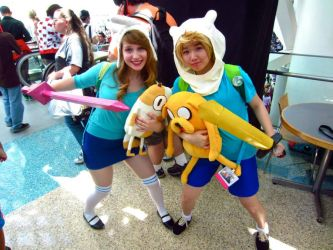 FINN, JAKE, FIONNA, and CAKE! by pixi996