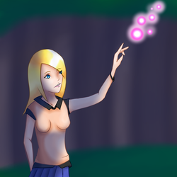 Jane with a little bit of magic in the Darkness of by JoordyPol