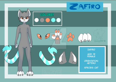 Comission - Zafiro Ref by PockyStarchan