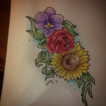 Flowers tattoo project by LilithHate