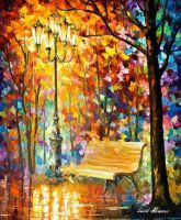 Lost Bench by Leonid Afremov by Leonidafremov