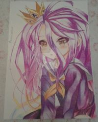 Shiro-No Game No Life Commission by Alexiapinkdrawings