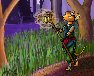 Lindy and the Lighted Wood by Dawnfinder