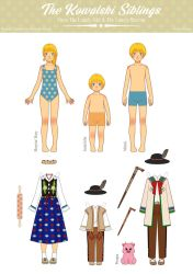 Bronia And The Warrior-Kowalski Siblings PaperDoll by Rosariy
