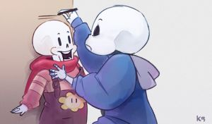 Sans and Papyrus by Ketchupberry