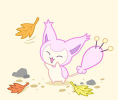Skitty in fall time by Mewkyz