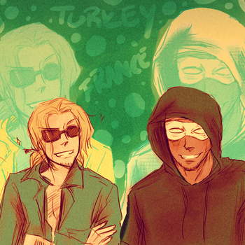 APH: Bearded Bros by kelly--bean