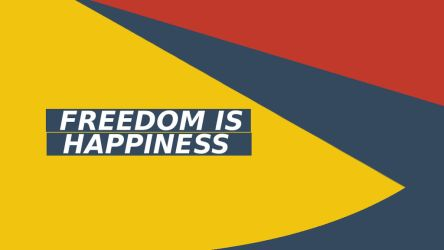 Freedom is happiness Material Design Wallpaper by movinrag3