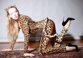 Saraliz in Leopard Girl from Sleepy Superheroines by sleepy-superheroines