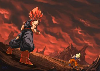 :Commission/ Goku Vs Evil Goku by PhantomStudio-Tommy