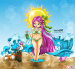 Summer Goddess - colored by Mally-Pepper