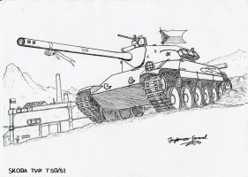 TVP T50 51 Medium Tank by StubbornEmil