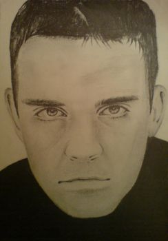 ROBBIE WILLIAMS PENCIL by girlpainter