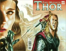 Thor ( comic blank cover) by rommeldrawlines-12