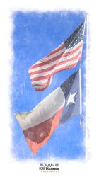 US-Texas Flags by kwhammes