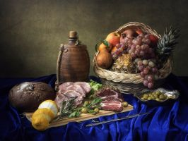 Still life with smoked meat by Daykiney