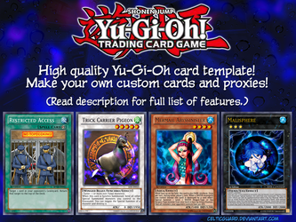 Yu-Gi-Oh! Card Template HD [new style] v1.1 by CelticGuard