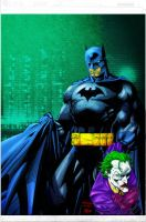 Batman and Joker colored by RCarter
