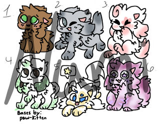 Kittydog Adopts | 3/6 (10 points) OPEN by Numitastic