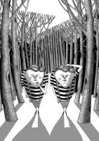 Tweedledum and Tweedledee by scratchproductions