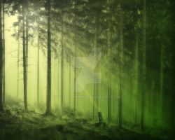 Enchanted Forest Pre-Made Background by Elle-Arden