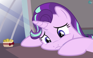 Starlight Glimmer sad wallpaper vector by arifproject