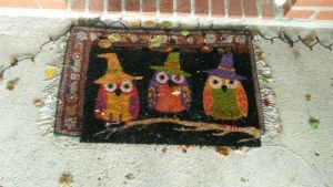 Halloween 2014 Owl Doormat by blah1200