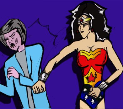 wonder woman punches THREASER MAY in the face 01 by ztenzila