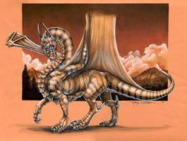 Striped Forest Dragon by Quelyntr