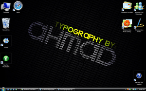 Typography Name Desktop by ahmad0410