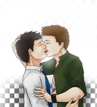 Kissing Destiel by ste3o