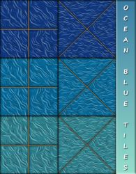 Ocean Blue Tiles by allison731