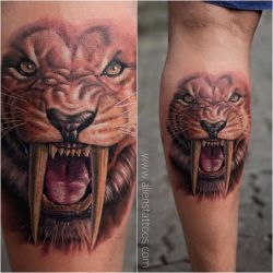 Tiger Tattoo by Sunny Bhanushali at Aliens Tattoo by Javagreeen
