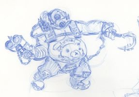 Overwatch - Roadhog Sketch by HJTHX1138