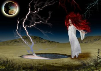 The girl who played with lightning by KarmaRae