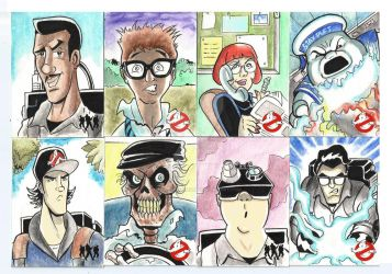 Ghostbusters sketch cards 2015 by marciocabreira
