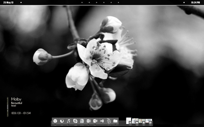 Black and White Minimalistic Desktop by Angie-NeoTokyo