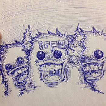Ballpoint Critters: 2 by irpeDELIGHT