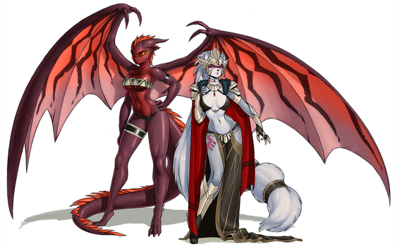 Cerinia Puzzle: Queen and servant by luigiix