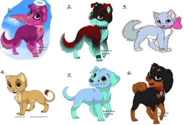 Puppy and Kitten Adoptables by XxLatiasLatiosxX